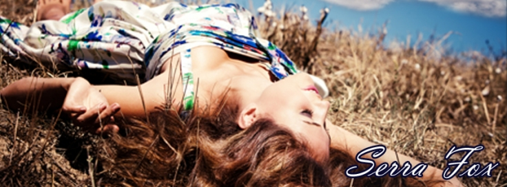 fb banner - girl lying on ground with blue sky
